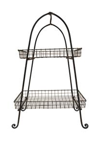 2 TIER RECTANGULAR BASKET TRAY H72cm