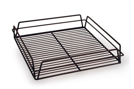 GLASS BASKET-SQUARE BLACK