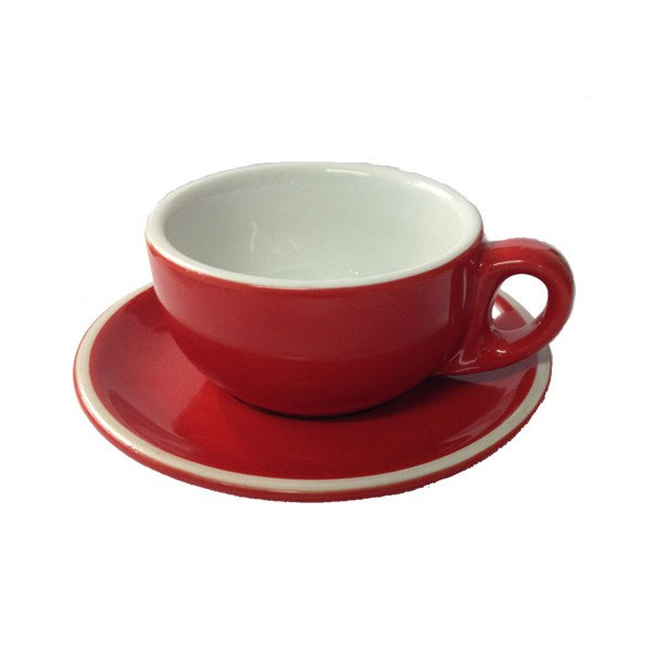 LONGFINE CAPPUCINO CUP - RED