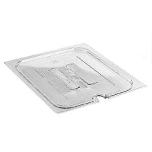 CAMBRO 1/4 CLEAR LID-NOTCHED