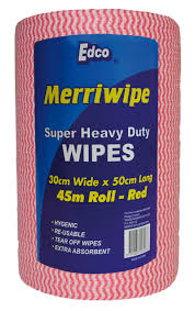 EDCO Merriwipe H/D 45 Mtr Roll - Red