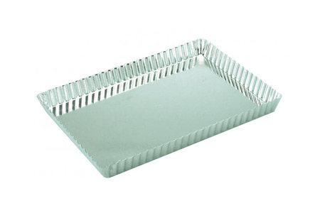 FLUTED RECT. PAN-LOOSE BASE 30X21cm