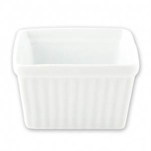 SQUARE SOUFFLE DISH 125X65mm