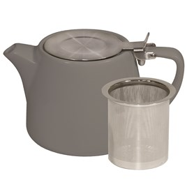 BREW STACKABLE TEAPOT 600ml-FRENCH GREY