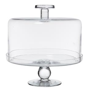 GLASS CAKE DOME & STAND