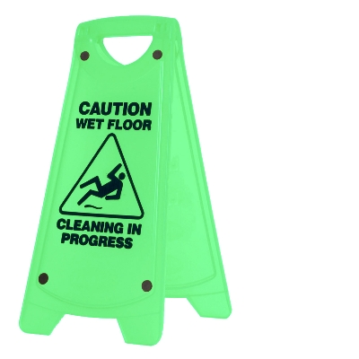 NONSLIP A-FRAME CAUTION SIGN - GREEN