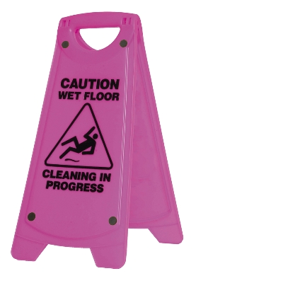 WET FLOOR-A FRAME SIGN-PINK