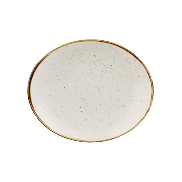 STONECAST OVAL PLATE 192mm-WHITE
