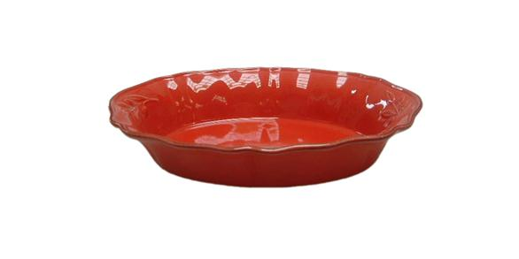 Oval Baking Dish Red
