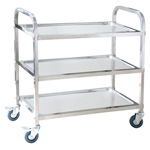 TROLLEY-3 TIER STAINLESS STEEL